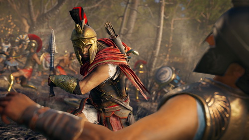 assassins creed odyssey alexios fight battle x034