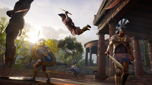 assassins creed odyssey alexios game battle x047