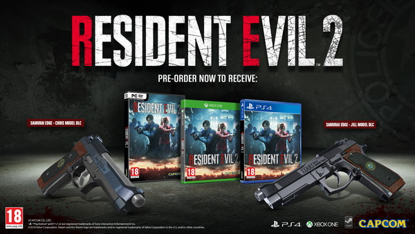 Resident Evil 2 PreOrder Beauty With Packshot S2