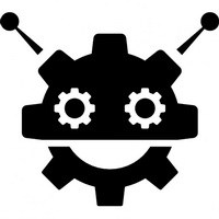 robocog-logo-of-a-robot-with-cogwheel-head-shape_318-52648