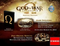 God of War: Ascension (Special Ed.) PS3 USED