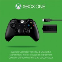 Microsoft XBOX ONE Wireless Controller with Play & Charge Kit Bl